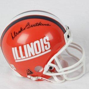 Dick Butkus Illinois Signed Mini Helmet
