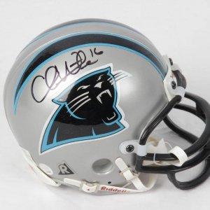 Chris Weinke Carolina Panthers Signed Mini Helmet
