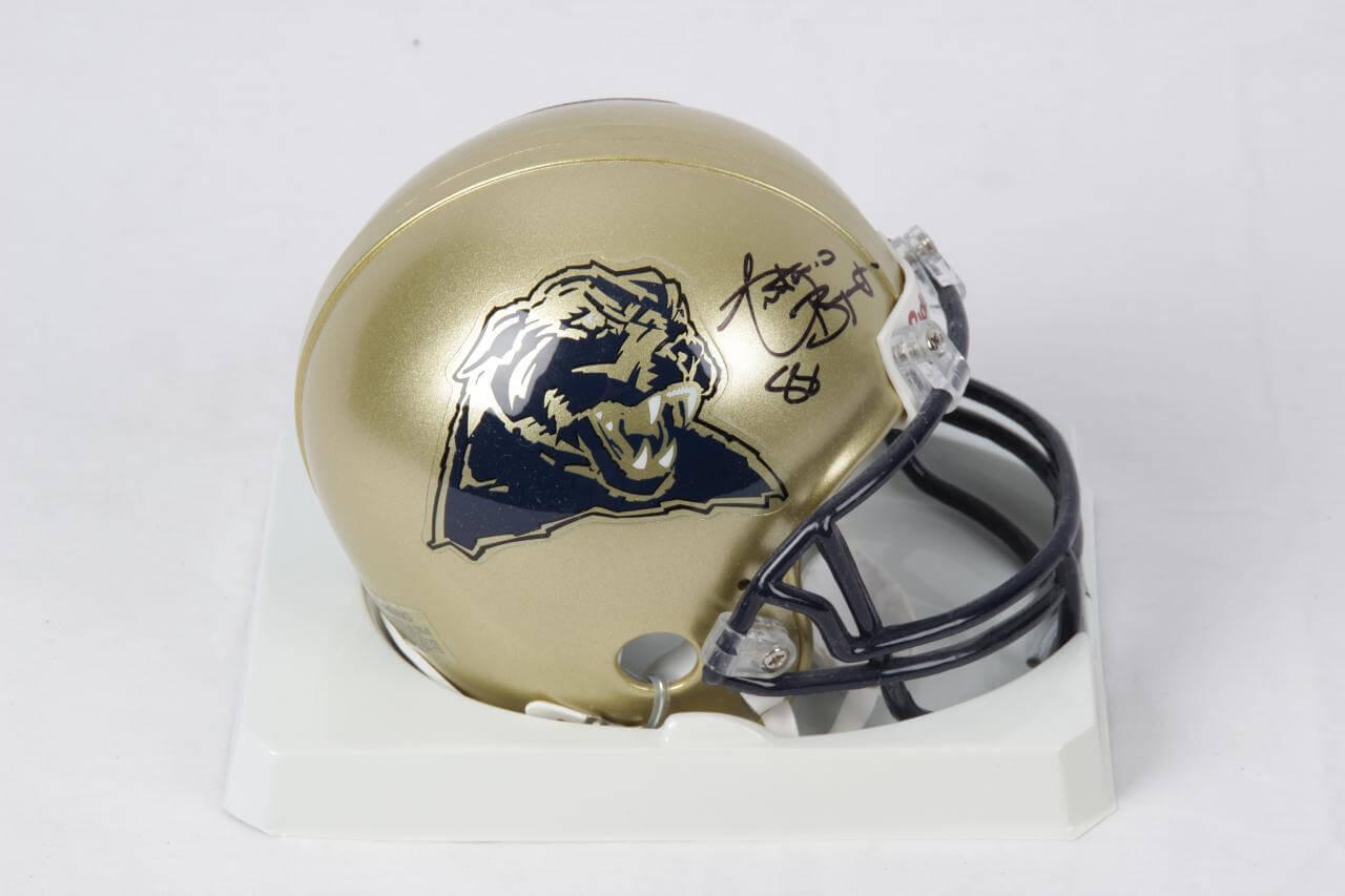 Antonio Bryant Pittsburgh Panthers Signed Mini Helmet - COA