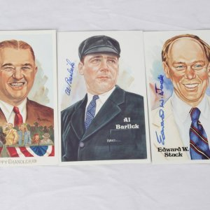 Hall of Fame Perez-Steele Postcard Signed Lot Incl. Happy Chandler