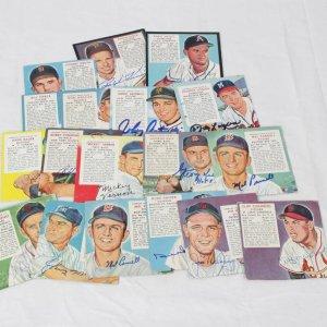 Vintage Red Man Tobacco Card Signed Card Lot 19  incl. Duke Snider