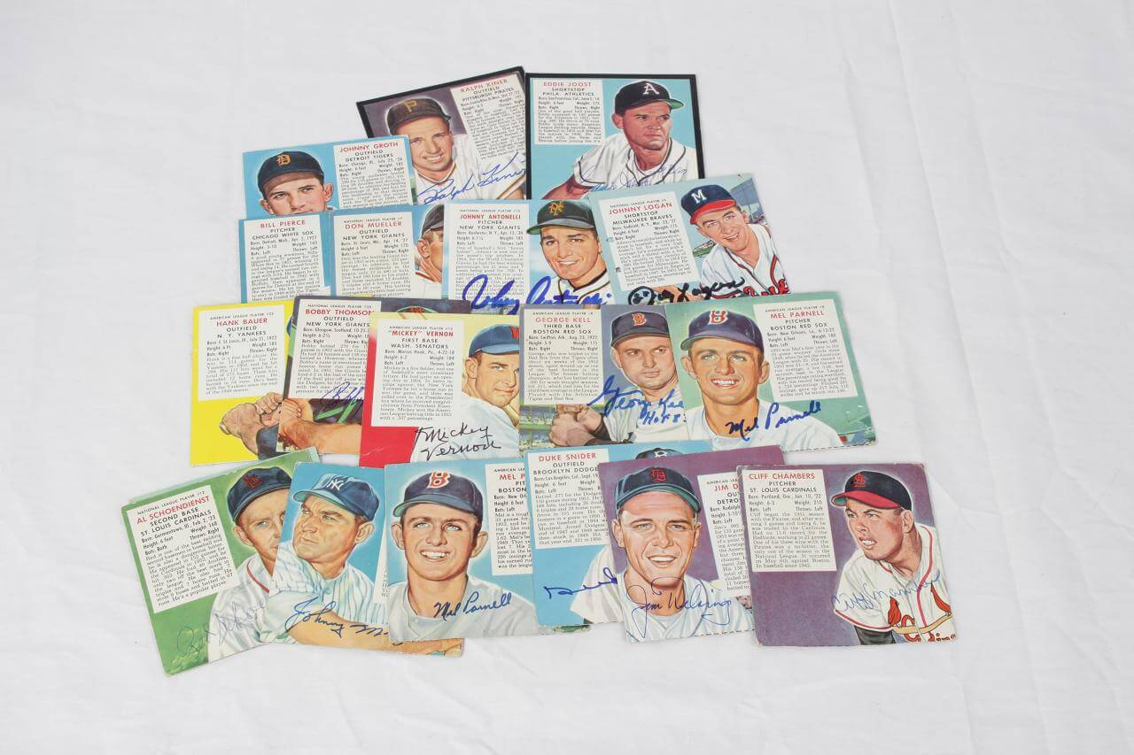 Vintage Red Man Tobacco Card Signed Card Lot 19- Snider,Schoendienst, etc - COA