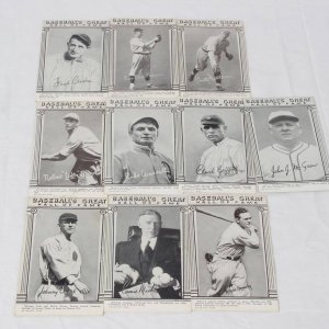 Baseball's Great Hall of Fame Postcard / Exhibit Card Lot of 10 Incl. Christy Matthewson