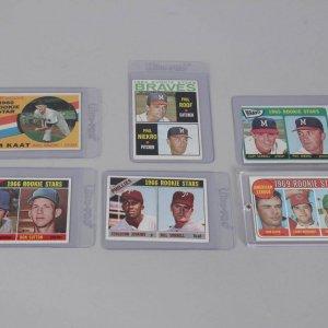 1960s Topps Baseball Rookie HOFer Card Lot of (6) Incl. Rollie Fingers