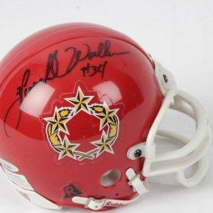 Hershel Waler U.S.F. L Signed & Inscribed (32) Riddell Mini Helmet Tri Star
