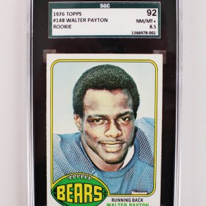 1976 Chicago Bears Walter Payton Topps Rookie Card (SGC 92 Nm/Mt 8.5)