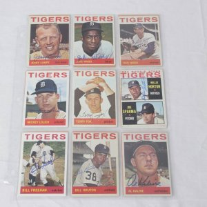 1964 Topps Baseball Detroit Tigers Signed Card Lot of 19 Incl. (2) Jerry Lumpe