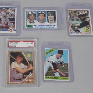 Baltimore Orioles HOFer Card Lot - 5 Incl. Cal Ripken
