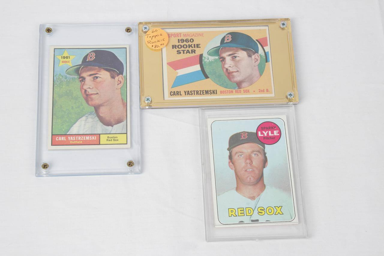 3 Vintage Boston Red Sox Topps Cards - Incl. (2) '61 & '62 Yaz & '69 Lyle RC's