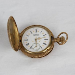 Vintage Antique Hampden Pocket Watch (Still Runs)-Portion of Proceeds Benefits the Depreciation Lands Museum