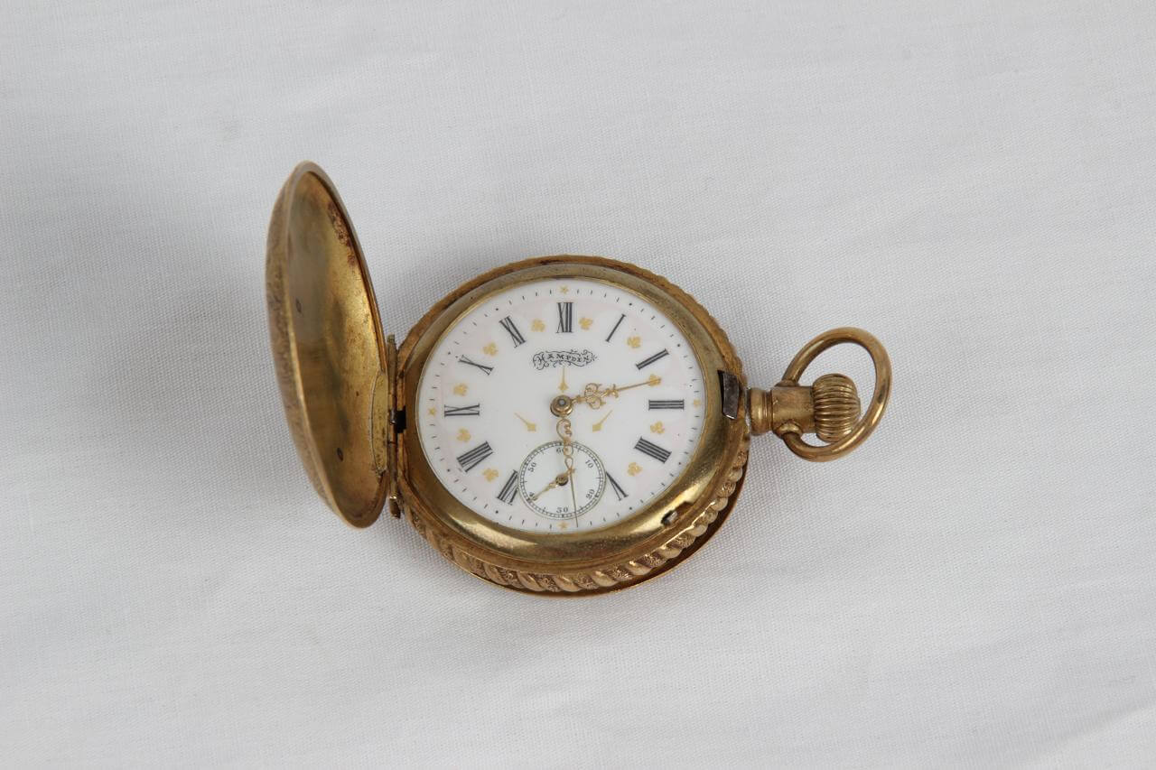 Vintage Antique Hampden Pocket Watch (Still Runs)-Portion of Proceeds Benefits the Depreciation Lands Museum