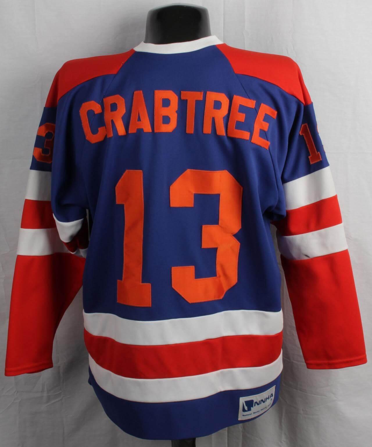 Crabtree Game-Worn/Used NNHA Hockey Jersey
