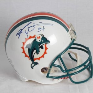 Ricky Williams Miami Dolphins Signed and Inscribed (34) Riddell Replica Full Size Helmet