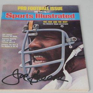 Pittsburgh Steelers Joe Greene Signed Sports Illustrated Cover