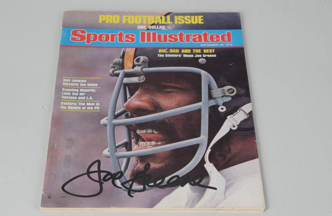 Pittsburgh Steelers Joe Greene Signed Sports Illustrated Cover