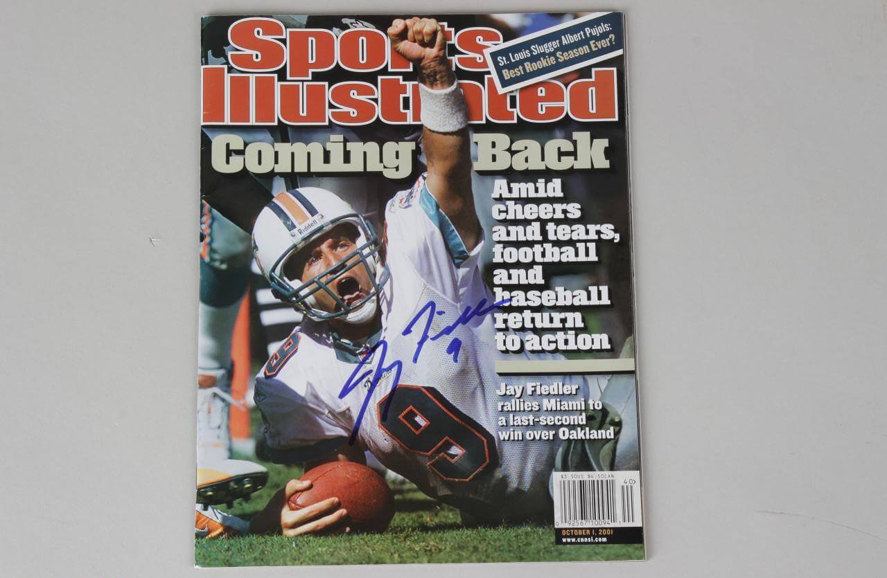 Jay Fiedler Signed Sports Illustrated Magazine - JSA