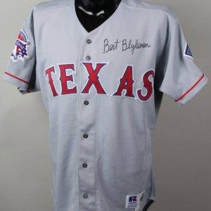 OE Bert Blyleven Texas Rangers Signed Jersey