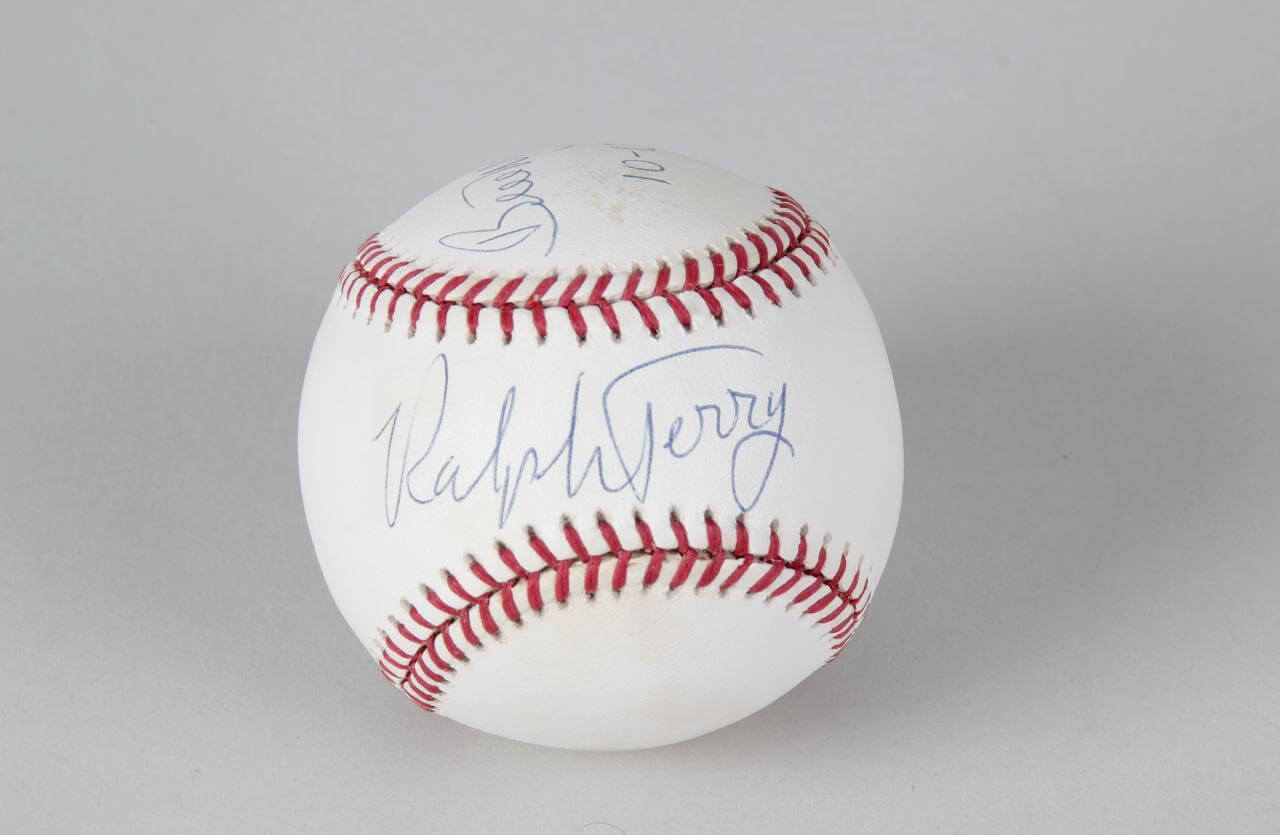 1960 World Series - Pirates vs. Yankees - Ralph Terry & Bill Mazeroski Signed Baseball (Mazeroski Inscribed Date of Home Run Off of Terry 11-13-60)