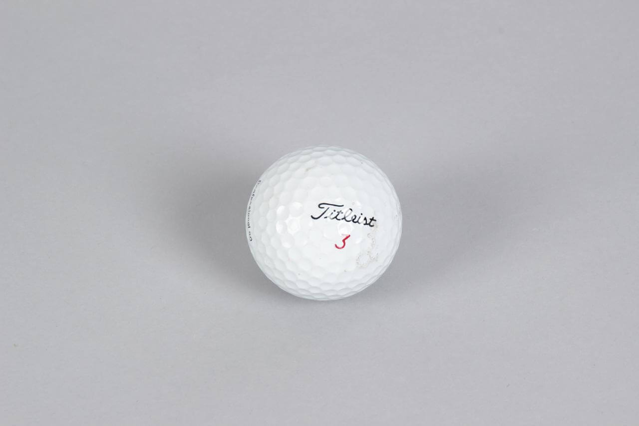 PGA Pro Tiger Woods Titleist Golf Ball Tournament Used (w/ Personal Markings)