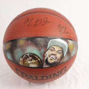 2002 Pre-Rookie High School LeBron James Signed Basketball- JSA Full LOA