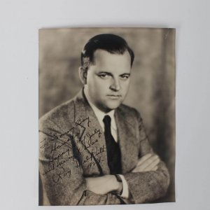 "Director of 1948 The Babe Ruth Story - Roy Del Ruth Signed & Inscribed  7-1/2"" x 9-1/2"" Photo"