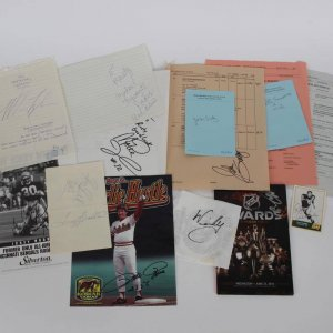 Lot of (14) Sports Stars Signed Items - Incl. Mike Tyson