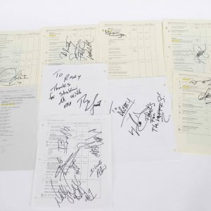 Lot of 9 Billboard Music Awards/Call Sheets Signed by 15 Artists/Celebrities - JSA