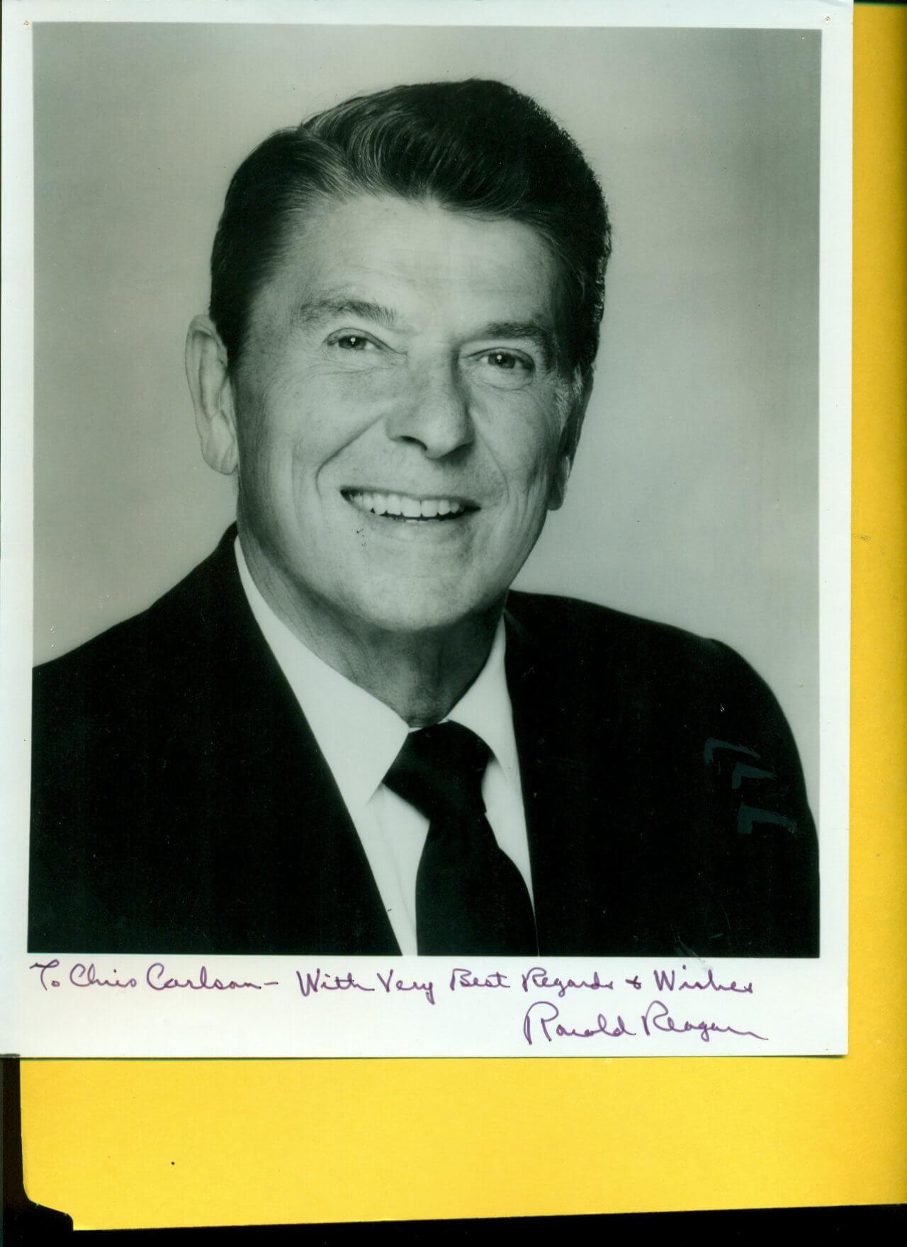 President - Ronald Reagan Signed & Inscribed 8x10 Photo (JSA Full LOA)