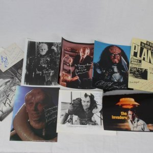 12 Cult Classics Sci-Fi Horror Film Signed Photos Incl. Hellraiser Doug Bradley