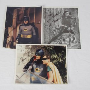 Batman TV Series - (2) Adam West & Julie Newmar Signed 8x10 Photos Lot