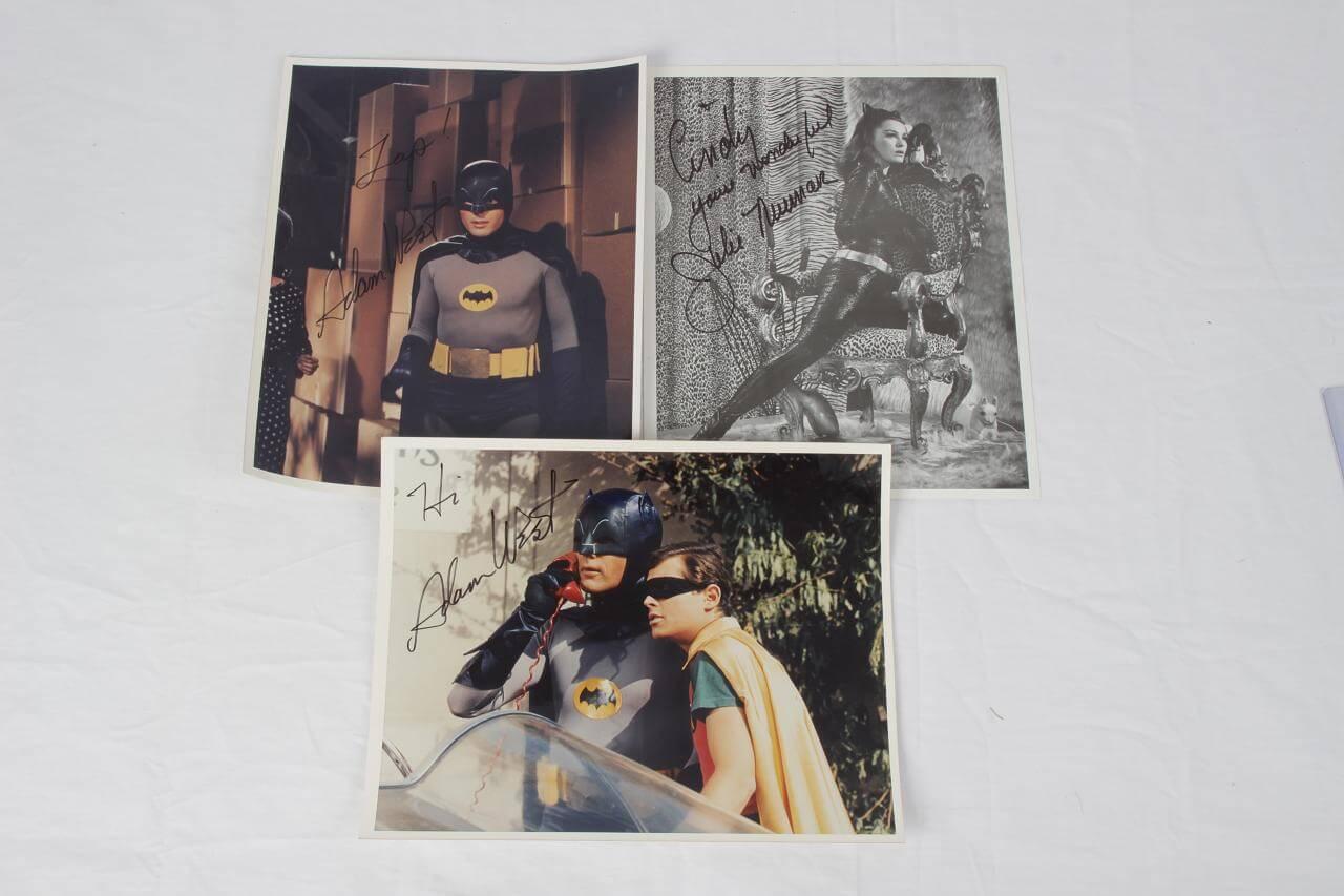 Batman - (2) Adam West & Julie Newmar Signed 8x10 Photos Lot (JSA)