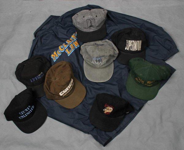 Film Crew Lot 8 Hats Supernova, Robin Hood etc. McClains Law Jacket L