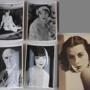 Six Vintage 8x10 B&W Silent Era Movie Portrait Headshot Stills Incl. Colleen Moore (From Howard Lake Theatre