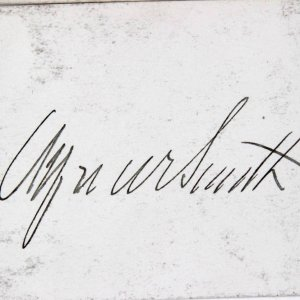 New York Govenor - Alfred E. Smith Signed Cut - JSA