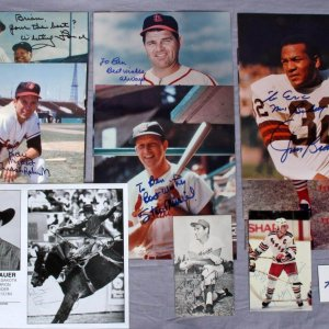 Sports Signed Lot - 11 Sigs. Incl. Koufax, Lanier, Musial & Others - JSA
