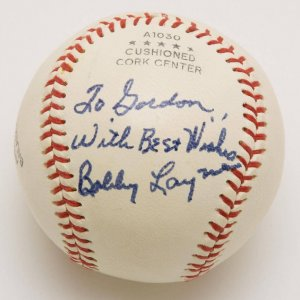 Bobby Layne Autographed, Inscribed Ball (Pers.) w/PSA/DNA Sticker