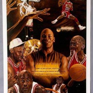 """Unbelievable"" - Michael Jordan 21x28 Lithograph by Simon (AP)"