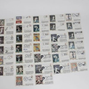 Lot of 32 World Series (1983-86) Signed First Day Covers (FDC) Cachets Feat. Mike Schmidt, George Brett, Whitey Herzog, Steve Carlton, Kirk Gibson et al.
