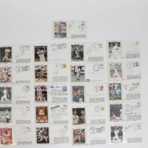 Lot of (20) Milestones Signed First Day Covers (FDC) Cachets Feat. Wally Joyner, Jose Canseco, Mark McGwire, Paul Molitor etc.