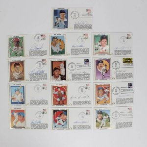 Lot of 13 Cooperstown HOFer Signed First Day Covers (FDC) Cachets Feat. Jim Catfish Hunter, Pee Wee Reese, Don Drysdale, Billy Williams etc.