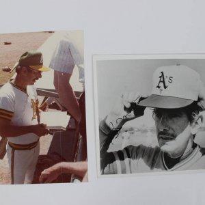 Pair of Oakland A's - Billy Martin Signed 8x10 Photos (JSA)