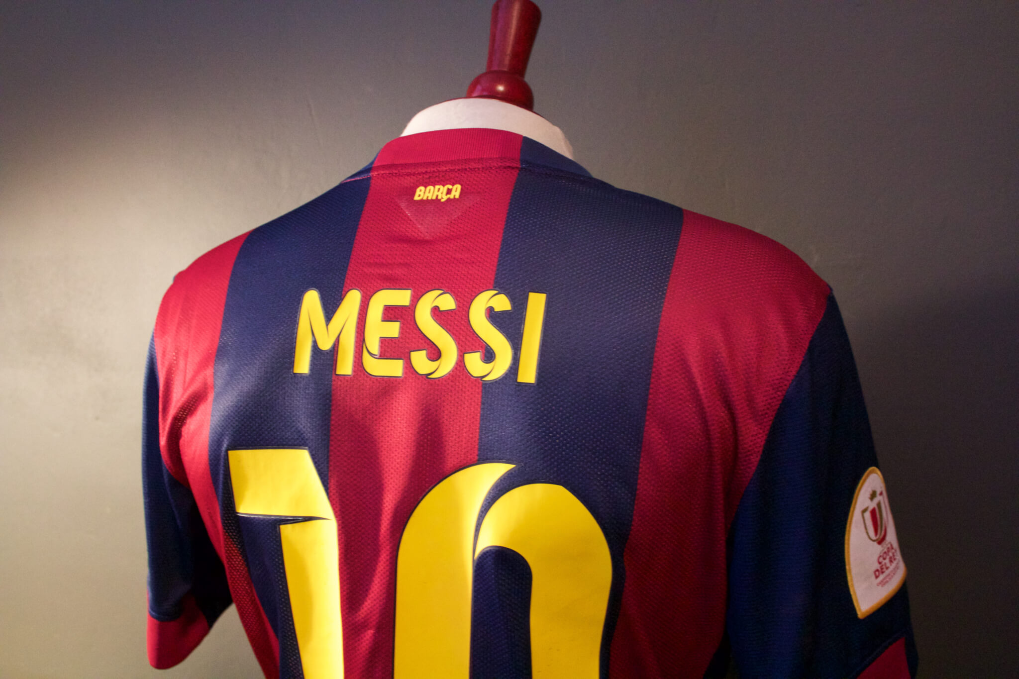 bb6d50a5b21 A Lionel Messi Game-Used   Unwashed  10 FC Barcelona Home Shirt. 2015 Copa  Del Rey Final. FC Barcelona (3) – (1) Athletic Bilbao. Camp Nou.