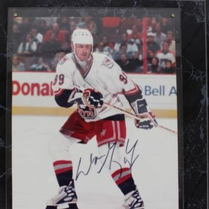 New York Rangers Wayne Gretzky Signed 8x10 Color Display
