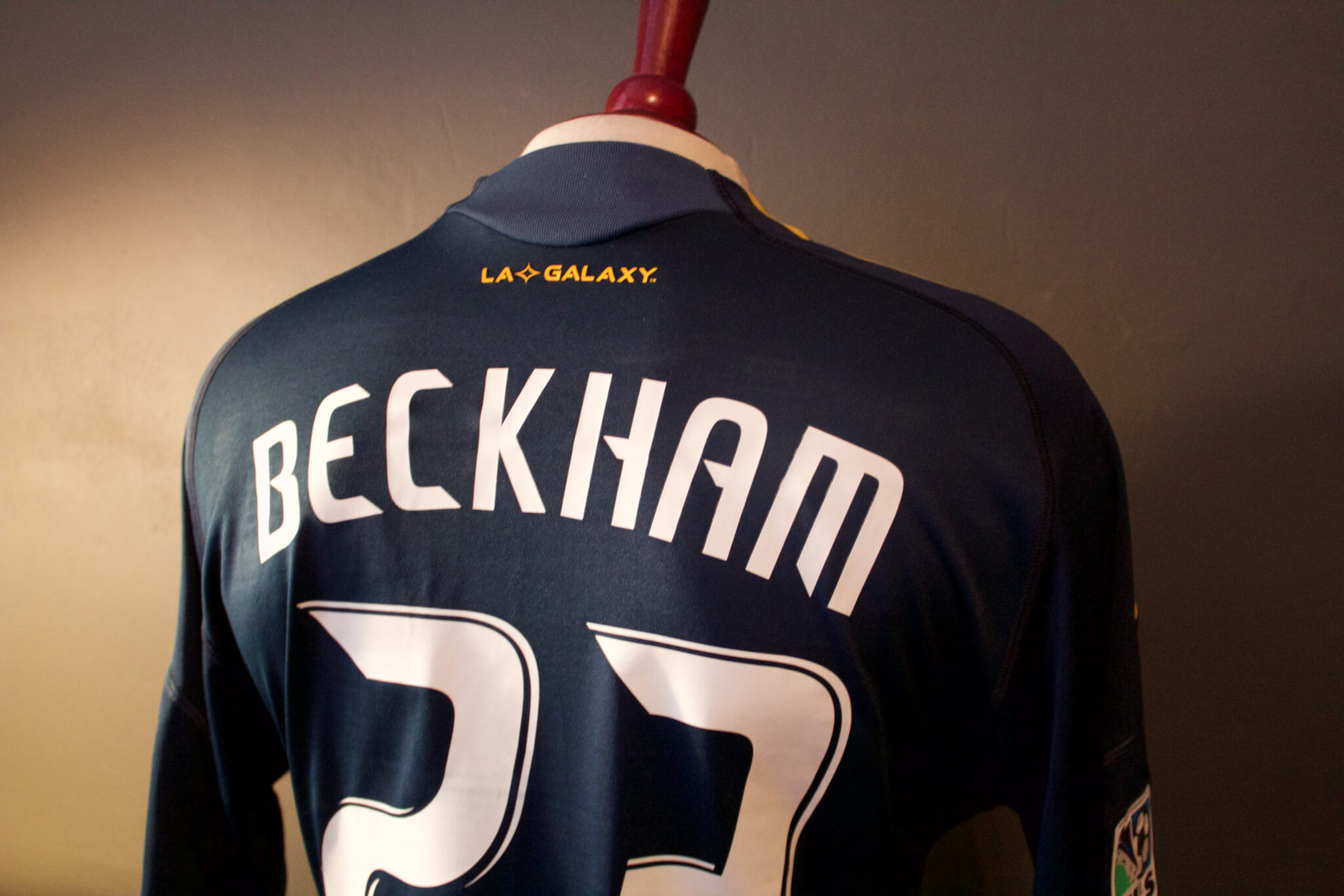 56c1488ef A David Beckham Game-Used  23 LA Galaxy Away Shirt. 2009 MLS Season.