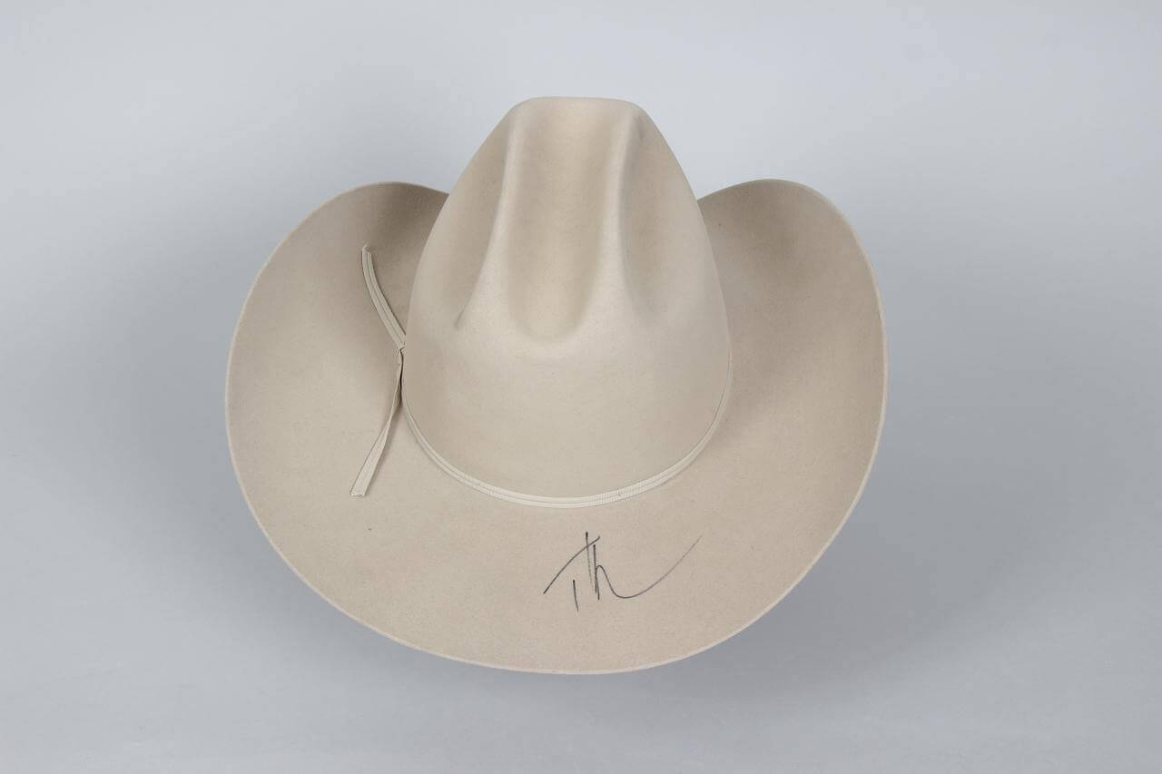 88e7becb45a Country Singer – Tim McGraw Signed Resistol Ranch Tan Western Long Oval  Cowboy Hat