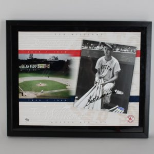 Red Sox - Ted Williams Signed (3-D) 8x10 LE 14/50 Photo Display - COA UDA