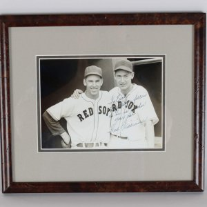 """Ted WIlliams Signed """"To Earl As Great a fellow as he is a pitcher, your pal Ted WIlliams' 8x10"""