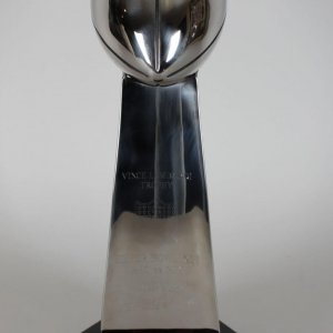 Indianapolis Colts Peyton Manning Signed Super Bowl XLI Replica Trophy (COA)
