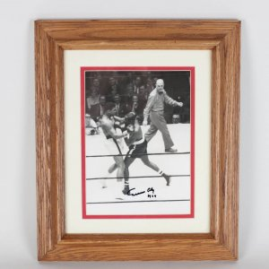 1964 Cassius Clay Signed 8x10 Fight Wire Photo