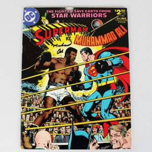 1978 Muhammad Ali Vs Superman Signed Comic Book